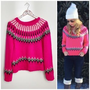 TOPSHOP Knitted Fair Isle Pink Sweater! 8